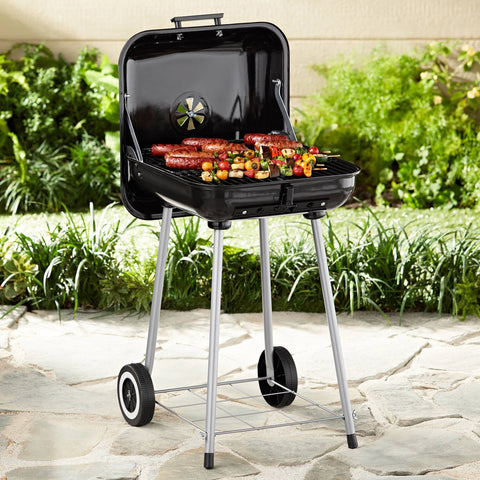 """Mobile"" Charcoal BBQ Grill w/ Wheels"