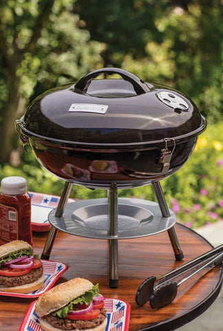 Portable BBQ 2-Level Kettle Grill & Smoker