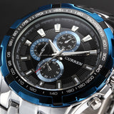 Men's Stainless Steel Luxury Fashion Quartz Watch - Blue -  - 1