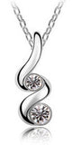 Women's Silver Crystals TWIST Pendant Necklace - Assorted Colors - Thirsty Buyer - 5