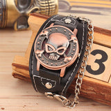 The Skull & Bones Chain Cuff Watch - Thirsty Buyer - 5