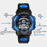 Boys Super Athelete Sports Stop Watch Digital LED - Blue -  - 2