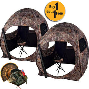 Buy 1 Get the 2nd FREE (Limited Time) - 2 MAN Hunter's Realtree Camo Ground Blind w/ 2 Free Blind Chairs! - Thirsty Buyer - 1