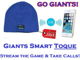 "GIANTS Streaming Wireless ""Smart"" Toque  - iPhone & Android Bluetooth Compatible - Thirsty Buyer - 1"