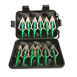 "12 ""Traditional Flat Blade"" 100gr Razor Arrow Broadheads w/ Bonus Carrying Case - Super Value Pack"