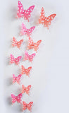 3D Plastic Wall Butterflies Peel & Stick - 12 pieces (Assorted Colors) - Thirsty Buyer - 9