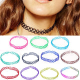 "Stretch ""Tattoo"" Choker Necklace - Multiple Colors -  - 1"