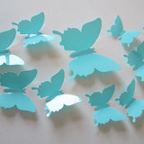 3D Plastic Wall Butterflies Peel & Stick - 12 pieces (Assorted Colors) - Thirsty Buyer - 4
