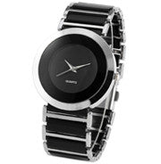 Women's Fashion Black Dial Elegance Quartz Watch -  - 1