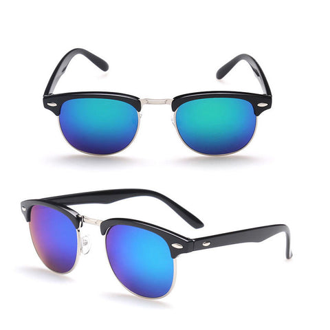 4d6cef77dc ... Men s Women s Half Gold Frame CLUBMASTER Sunglasses - Assorted Colors -  Thirsty Buyer - 6 ...
