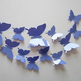 3D Plastic Wall Butterflies Peel & Stick - 12 pieces (Assorted Colors) - Thirsty Buyer - 5