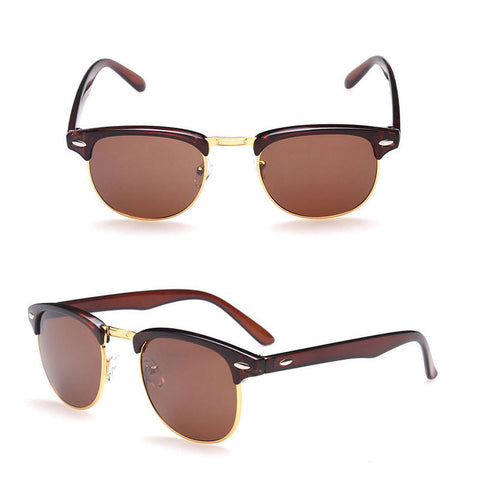 Men's/Women's Half Gold Frame CLUBMASTER Sunglasses - Assorted Colors - Thirsty Buyer - 2