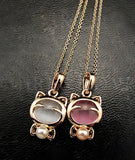Women's Gold KITTEN Necklace - 2 Pearl Colors Available - Thirsty Buyer - 1