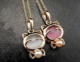 Women's Gold KITTEN Necklace - 2 Pearl Colors Available - Thirsty Buyer - 2