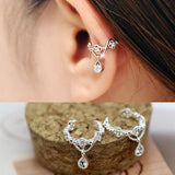 Women's Ear Cuff Clip WATERDROP Crystal Earring - Non Piercing -  - 1