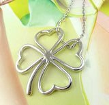 Silver Four Leaf Clover LUCKY Pendant Necklace - Thirsty Buyer - 1