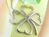 Silver Four Leaf Clover LUCKY Pendant Necklace - Thirsty Buyer - 2