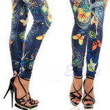 Women's Designer JEAN-DEX Pants - Colorful Club Style -  - 3