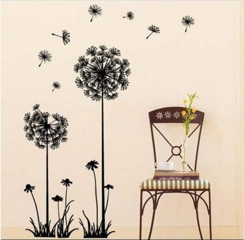 Dandelion Mural Wall Art Vinyl Decals - Thirsty Buyer - 1