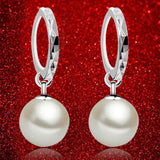 Women's Classic Silver EARDROP Pearl Earrings -  - 2