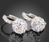 Women's White Gold Crystal GEMS Earrings -  - 2