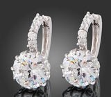 Women's White Gold Crystal GEMS Earrings -  - 3