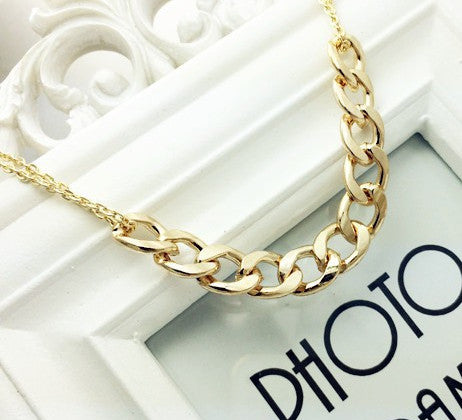 Women's Gold Solid Chain LINK Necklace - Thirsty Buyer - 1