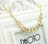 Women's Gold Solid Chain LINK Necklace - Thirsty Buyer - 2