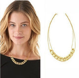 Women's Gold Solid Chain LINK Necklace - Thirsty Buyer - 3