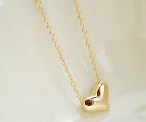 Women's Gold Heart Pendant Necklace - Thirsty Buyer - 1