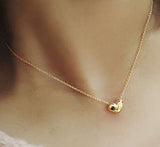 Women's Gold Heart Pendant Necklace - Thirsty Buyer - 3