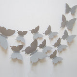 3D Plastic Wall Butterflies Peel & Stick - 12 pieces (Assorted Colors) - Thirsty Buyer - 7