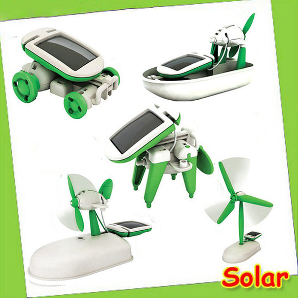 6 in 1 Solar Power Educational Robot Toy - Hot Christmas GIFT -  - 1