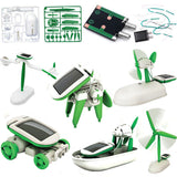 6 in 1 Solar Power Educational Robot Toy - Hot Christmas GIFT -  - 2