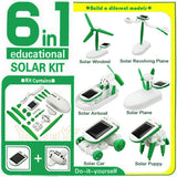 6 in 1 Solar Power Educational Robot Toy - Hot Christmas GIFT -  - 9