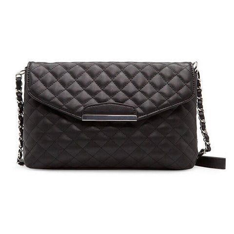 Women's PLAID Black Leather Purse Handbag - Thirsty Buyer - 1