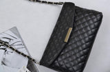 Women's PLAID Black Leather Purse Handbag - Thirsty Buyer - 2