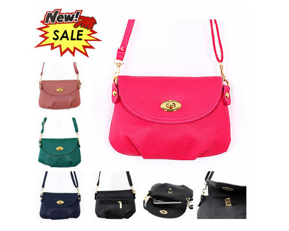 Women's Leather SATCHEL Cross Body Tote Purse Handbag - Assorted Colors - Thirsty Buyer - 1