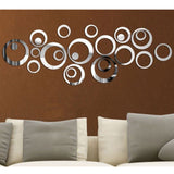 Silver Circle Mirrors Art Wall Vinyl Decals - Thirsty Buyer - 4