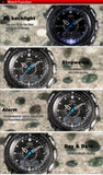 Men's Rugged Sport/Military/Athletic Active Quartz Stop Watch - Black -  - 8