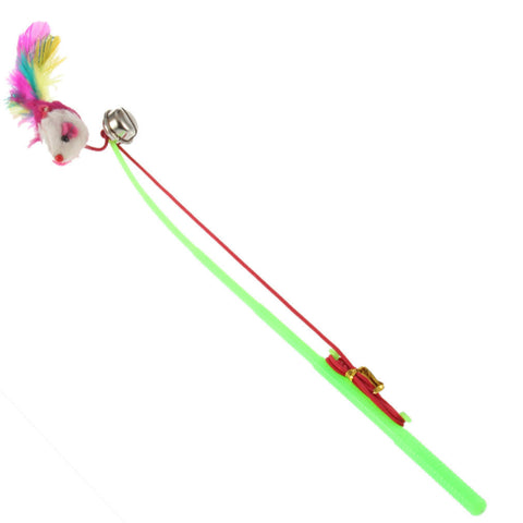 Cats Sound Bell Dangling Mouse Rod -  - 1