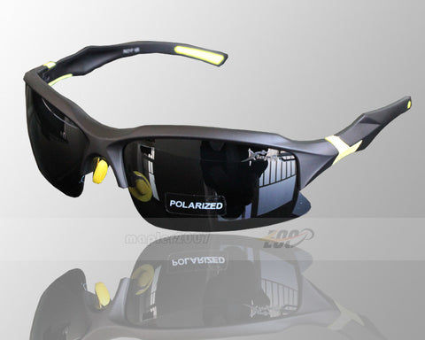 Professional Polarized Cycling/Athletics SunGlasses (Swiss Technology) - Yellow & Black -  - 1