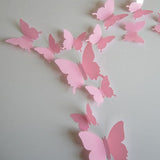 3D Plastic Wall Butterflies Peel & Stick - 12 pieces (Assorted Colors) - Thirsty Buyer - 8