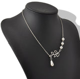 Women's Silver White Pearls LEAF Glamour Necklace - Thirsty Buyer - 2