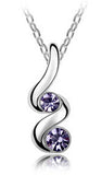 Women's Silver Crystals TWIST Pendant Necklace - Assorted Colors - Thirsty Buyer - 3