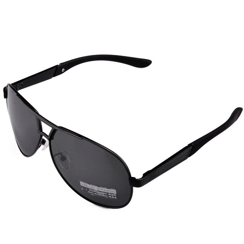 Men's Sport Polarized Aviator SunGlasses - Black -  - 1