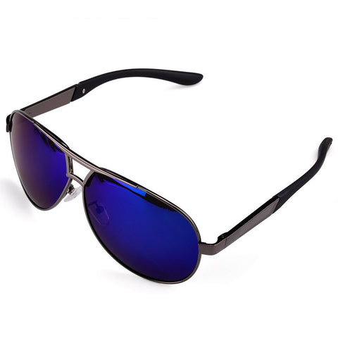 Men's Sport Polarized Aviator SunGlasses - Blue -  - 1