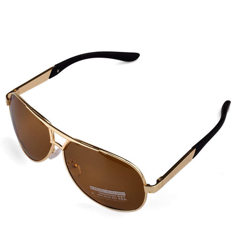 Men's Sport Polarized Aviator SunGlasses - Gold -  - 1