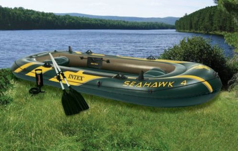 The SeaHawk 4 Rafting & Fishing Boat w/ Paddles - Thirsty Buyer - 1