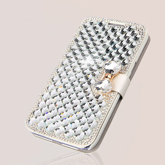 Ladies Crystals Leather Wallet Flip Case Cover for Samsung Galaxy S4 - Thirsty Buyer - 1